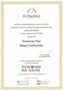 dyplom dla Akademii
